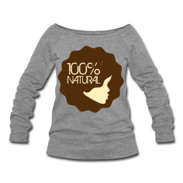 """Whether its natural hair or natural living, use this super cute """"100% Natural""""logo to represent your style!  Women's T-Shirts."""