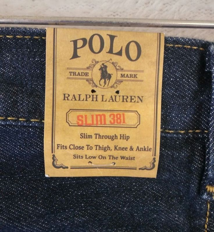 "Ralph Lauren Polo Boys Jeans 18 Denim Slim 381 Vestry Wash Dark 31"" Waist New #PoloRalphLauren #SlimSkinny #Everyday"