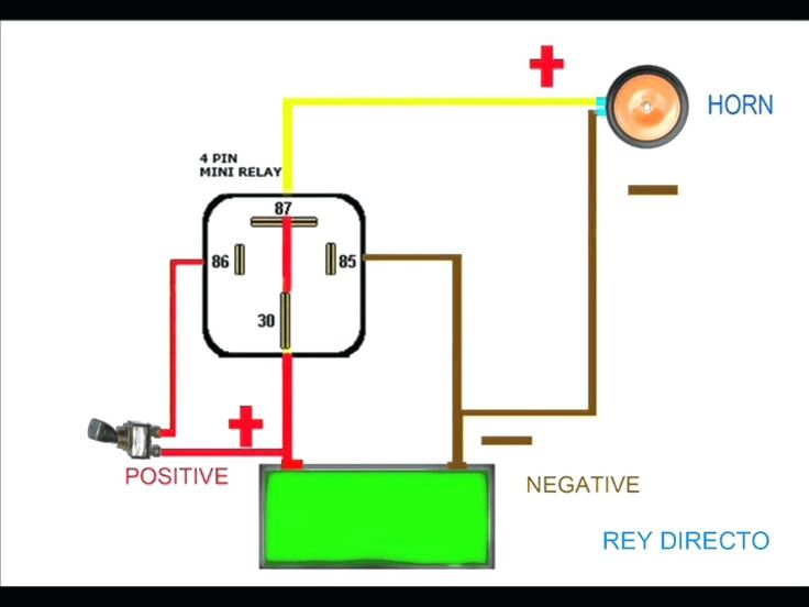 Diagram 5 Pin Changeover Relay Wiring Diagram