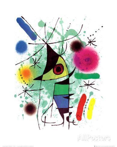 The Singing Fish by Joan Miro. Art Print from AllPosters.com, $9.99