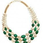 18 Carat Uncut and Emerald Necklace by Amrapali