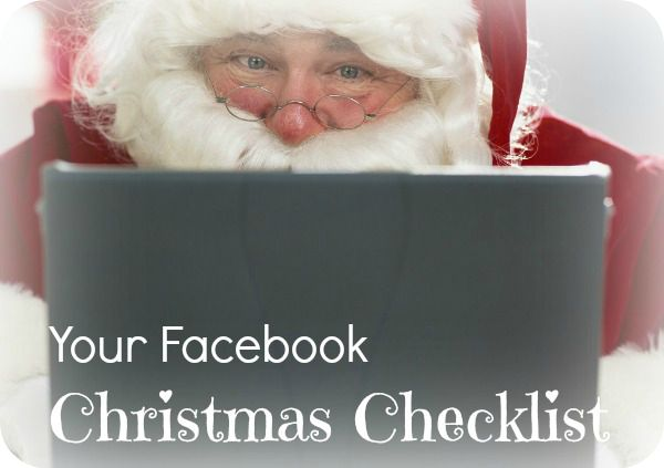 Click here for your Christmas Facebook Checklist: http://www.isocialize.com.au/fbxmaschecklist. Make sure you read it right to the end so you can download a printer friendly version!