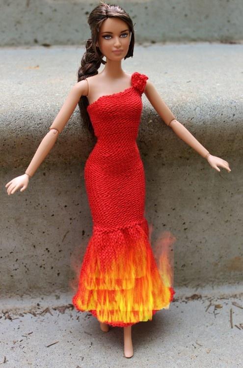 katniss doll girl on fire dress - Primrose Everdeen Halloween Costume