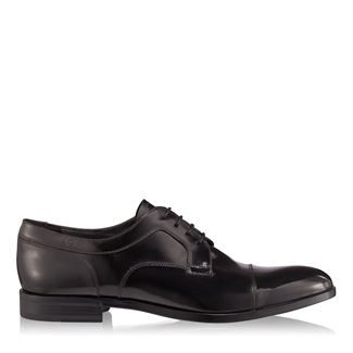 Pantofi barbati negri 2878 piele abrazivata