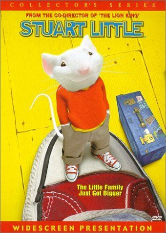 Stuart Little (1999) ~ Geena Davis, Michael J. Fox, Hugh Laurie. The Little family adopt a charming young mouse named Stuart, but the family cat wants rid of him. Adorable :))