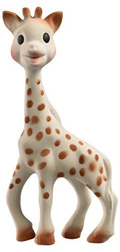 News Vulli Sophie giraffe in Natural Rubber   buy now     $21.61 Sophie the Giraffe, full of discoveries and activities to awaken baby's senses. Sight: The dark and contrasting spots all over... http://showbizlikes.com/vulli-sophie-giraffe-in-natural-rubber/