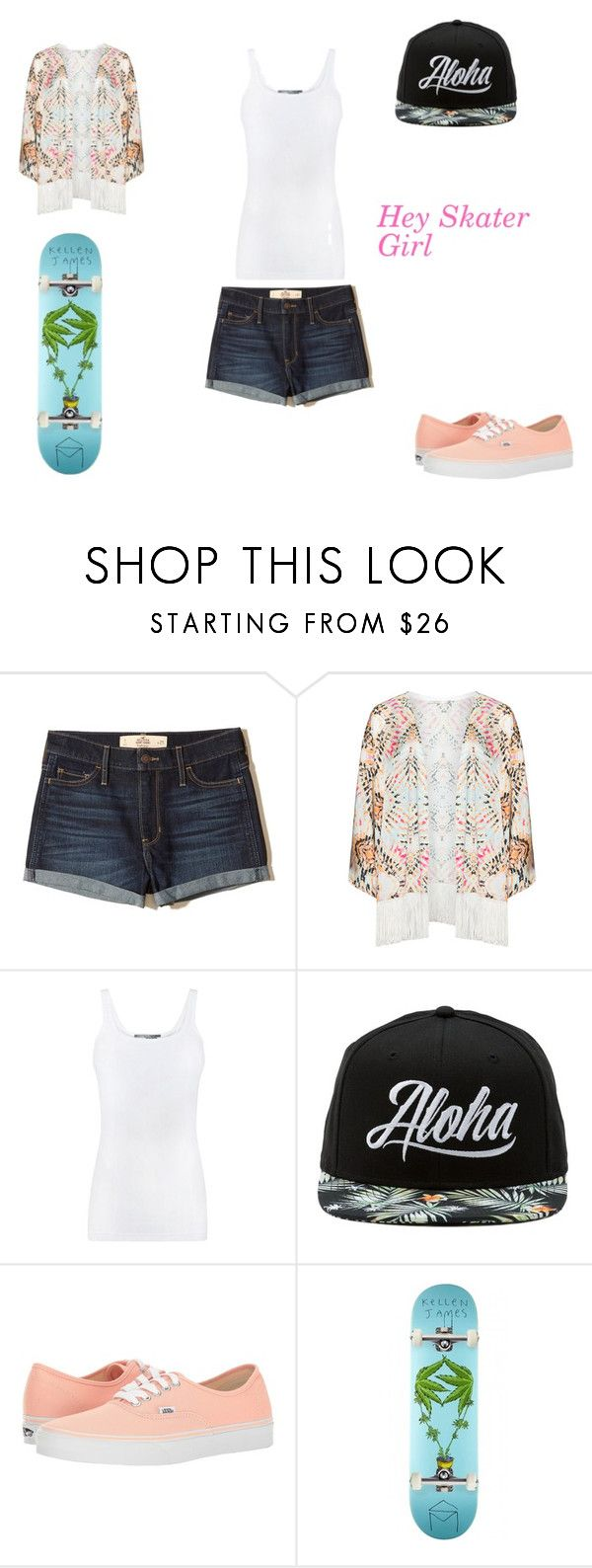 """""""Skater Chick"""" by natasha8pizza on Polyvore featuring Hollister Co., Mat, Vince and Vans"""