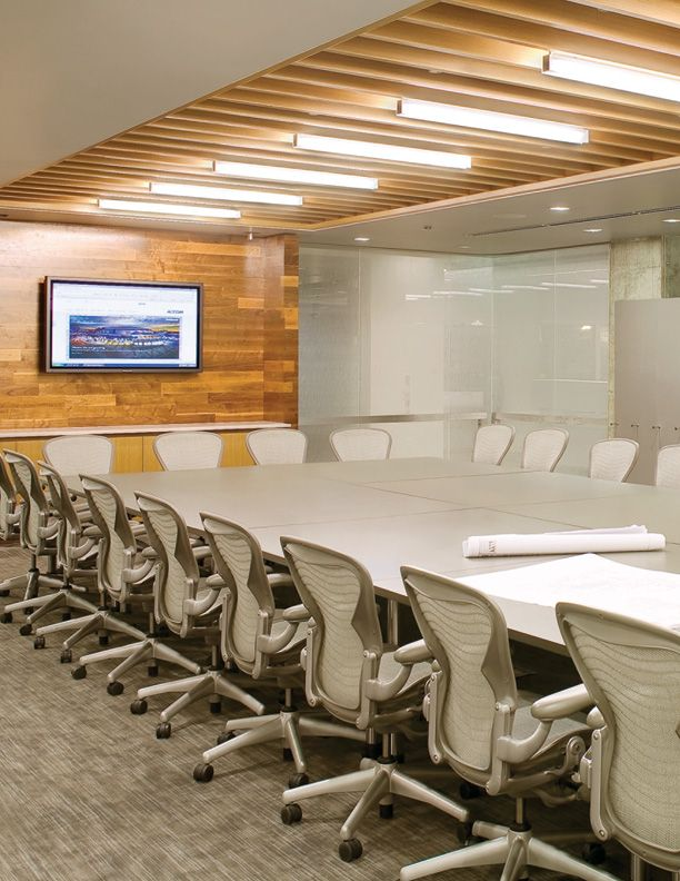 Conference Room Lighting Design: Herman Miller Aeron Chairs #hermanmiller #competitiveedge