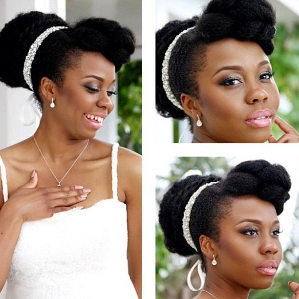 Ghanaian Bridal Styling With Straight Hair: Just Love, Natural Hairstyles And Black Weddings On Pinterest