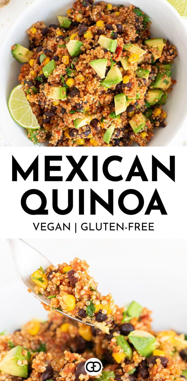 One Pan Mexican Quinoa Vegan Gluten Free Gathering Dreams Recipe In 2020 Healthy Recipes Healthy Pasta Recipes Healthy Dinner Recipes Easy
