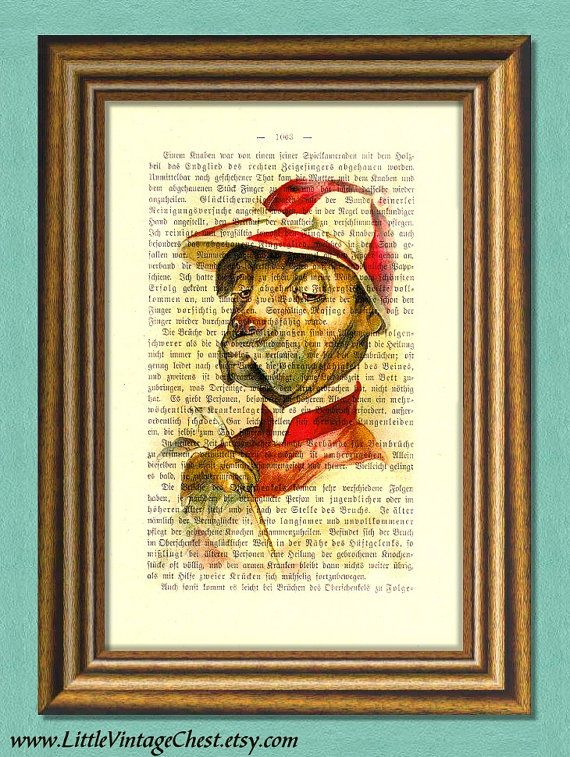 JOCKEY DOG  Dictionary Art Print Wall Art  by littlevintagechest, $7.99