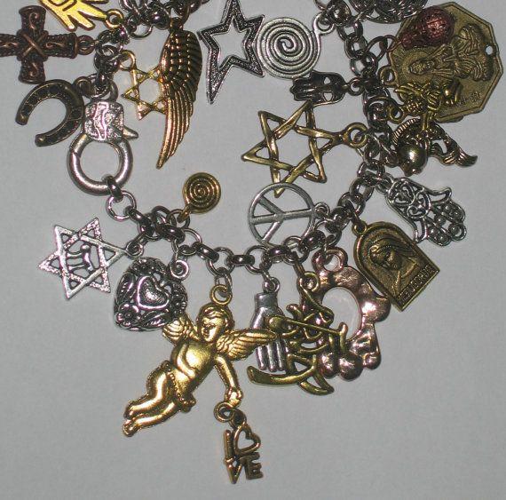 Buddha jewish christian religions symbols  Bracelet EVIL by shirdn, $65.00