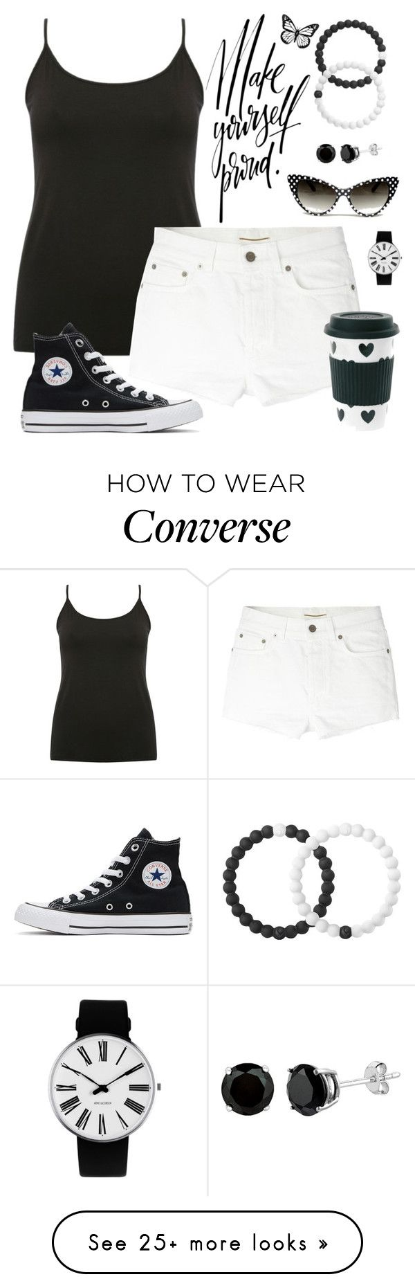 """Summer vacation"" by joyfulmum on Polyvore featuring M&Co, Yves Saint Laurent, Converse, Lokai and Rosendahl"