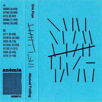 Eric Frye - Abyssal Folding on @boomkatonline - 31 minute cassette - produced by Anòmia @anomia