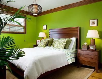 Charming Wonderful 39 Bright Tropical Bedroom Designs : 39 Bright Tropical Bedroom  Designs With White Green Brown Bed Pillow Blanket Nightstand Lamp Window  Curtain ... Part 32