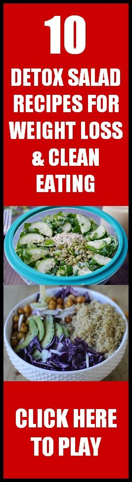 10 of my favorite delicious Detox Salad Recipes for Weight Loss and Clean & Heal…