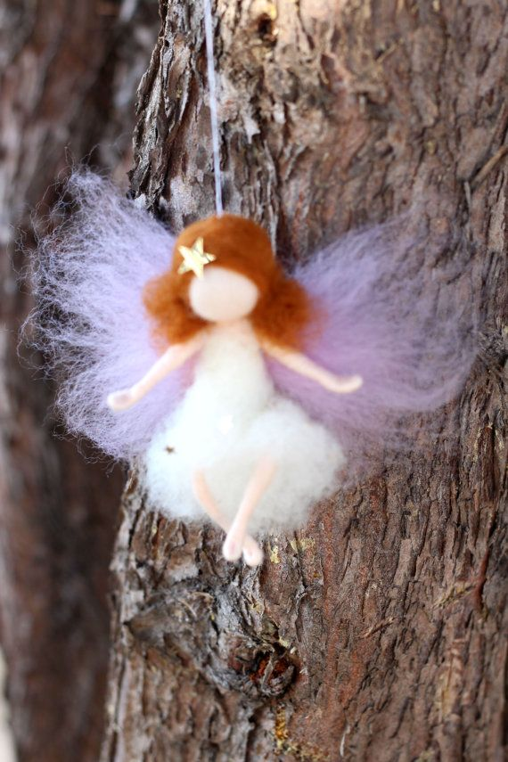 Little Angel Fairy Christmas Xmas Needle by CloudBerryCrafts, $22.00