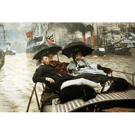 Reprodukcje obrazów James Tissot The Thames - Fedkolor