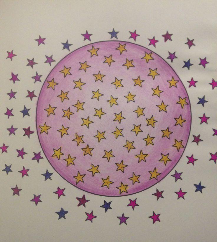 Universe mandala - pencil