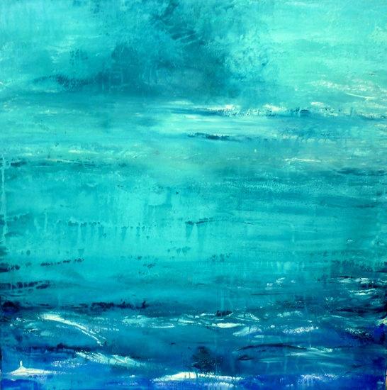 """Day Dream"" by artist Carol Hazel - Buy Western Australian Art Online from Interactive Arts 75 x 75 cms (2nd Meeting Room) $795"