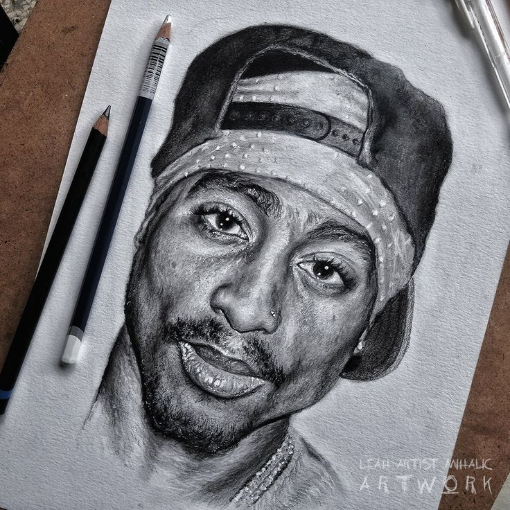 2pac drawing makaveli the legend leahs artwork