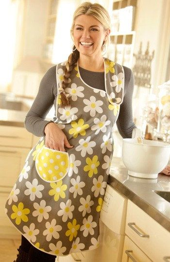 This unique apron is styled with an unusual asymmetrical neckline and an easy around-the-neck bodice with a button closure on the left side. The apron ties in back, accenting your feminine shape with a defined waistline. Made in two contrasting fabrics or one great print, this apron is sure to be a favorite. So easy to make, it might become your go-to handmade gift pattern! One size fits most. PLEASE NOTE THE PDF VERSION OF THIS PATTERN CONTAINS 30 PAGES WHICH MUST BE TAPED TOGETHER TO…