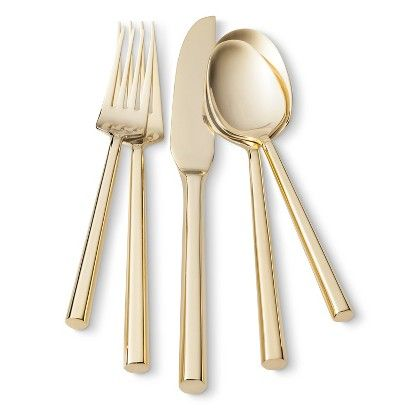 Threshold™ 5 Piece Izon Flatware Set - Gold $19.99/ 5-Pc set