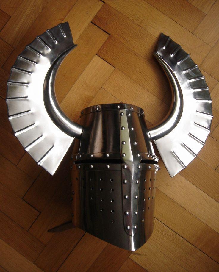 Medieval Helmets, Helmet Armor, Metal Horns