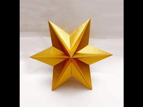 Origami Star - easy. Ideas for Easter. Origami Dominanta Star. Украшения для дома - YouTube