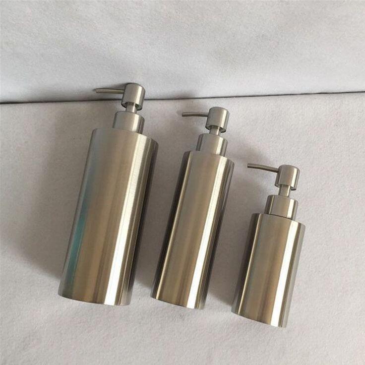 1Pc 250Ml 350Ml 550Ml Stainless Steel Liquid Soap Dispenser Sink Bathroom Tool #automotivetools #automotive #tools