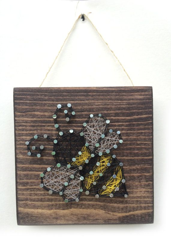 Bumble Bee String Art Home or Office Decor by Edgeofthewoodsart