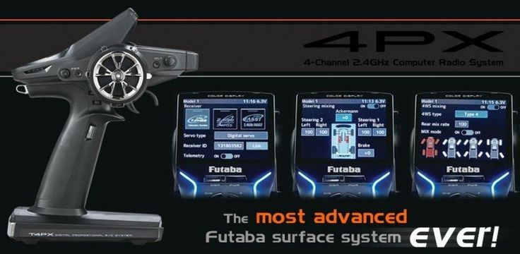 Futaba 4PX-24R1 4PX 4-Channel 2.4GHz Computer Radio System Transmitter with R304SB Receiver | The  most advanced Futaba surface system ever Introducing the 4PX, the most cutting-edge 4-channel radio in the Futaba fleet. The 4PX is 30% faster and 0.5 ...