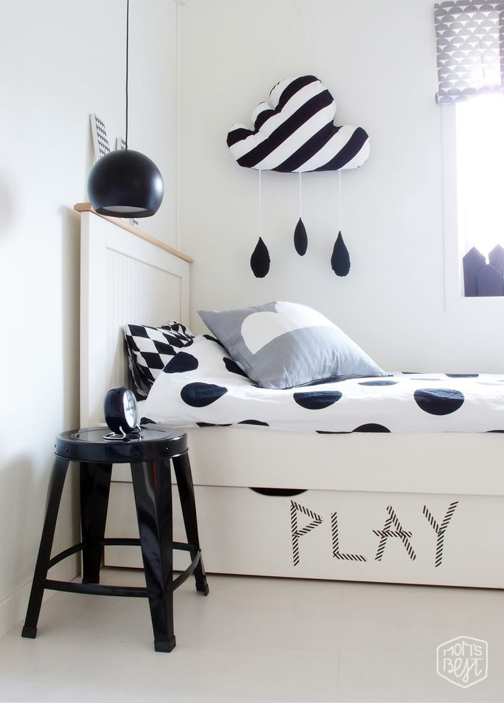 Mom's Best Network: Friday Find: black and white inspired kids rooms