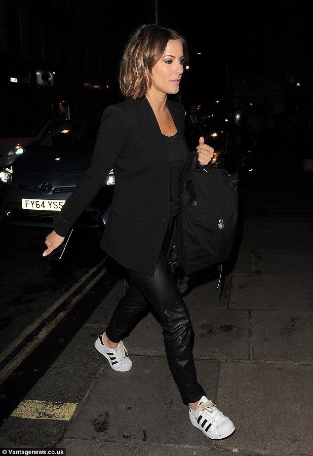 Caroline Flack out and about with her gorgeous #ombre #lob!