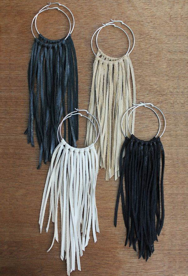 pictures of handmade hoop earrings | fringe hoop earrings 48 00 these sterling silver hoop earrings feature ...