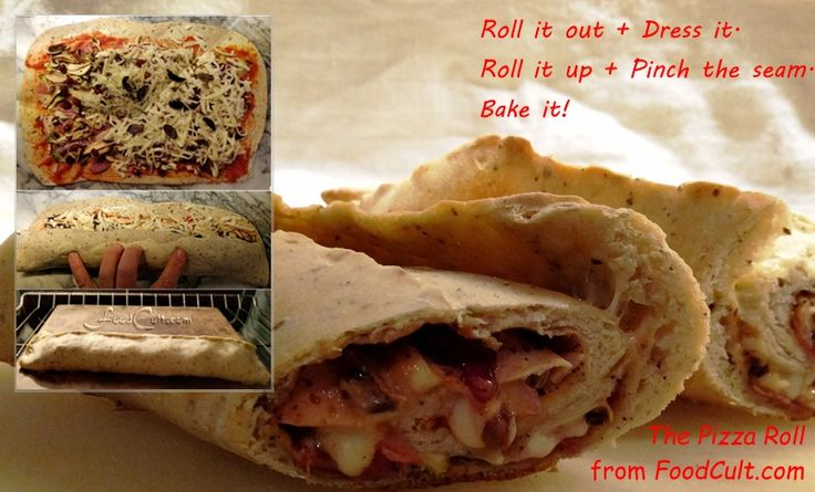 New from FoodCult.com - the #pizzaroll. #Recipe @ http://www.foodcult.com/pizzaroll.php #homemade #pizza #roll #rollup