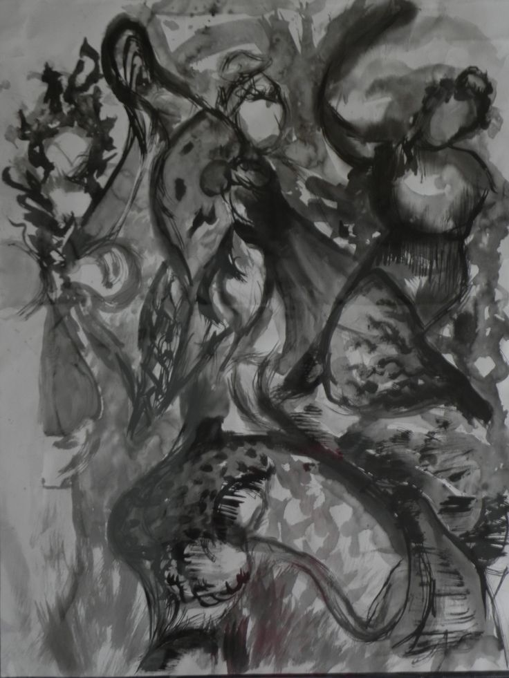 Jaime Cowdry. Drawing ink on paper. Size A1. April 2011.