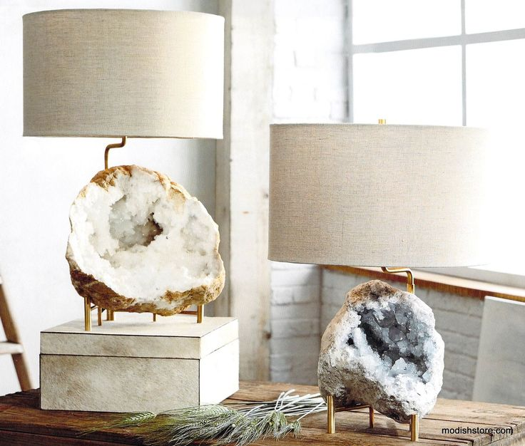 roost mineral stand lamps are a very elegant way to showcase the rich mineral specimens