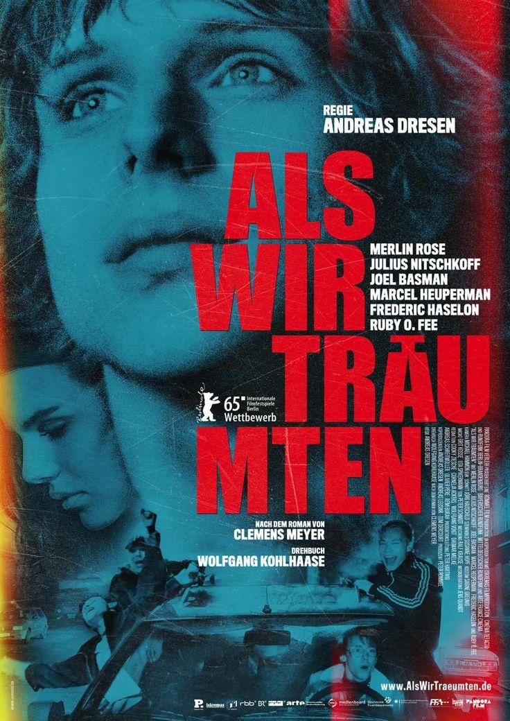 ALS WIR TRÄUMTEN, Regie Andreas Dresen, nach dem Roman von Clemens Meyer. Auch wenn die Kritiker bei der #Berlinale es teils nicht so gut meinten mit diesem Film, mir hat er gefallen. Temporeich, toll gespielt, gelingt es die Rastlosigkeit der Wendezeit in den 90er Jahren gut einzufangen. Lediglich das Frauenbild .... Ist halt ein Jungsfilm (und -buch).