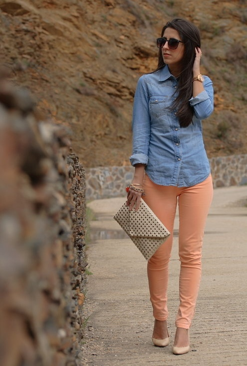 Trends: pastel denim, denim top