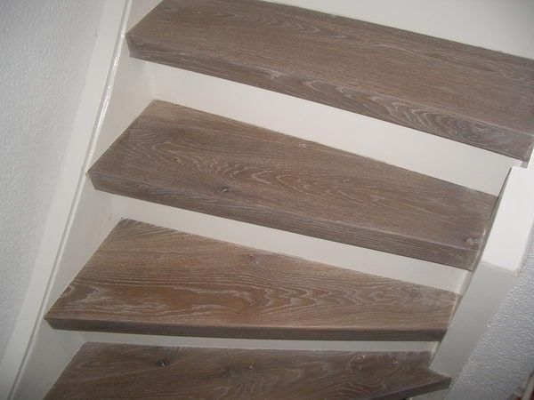 25 beste idee n over trap opknappen op pinterest trap for Trap hout wit