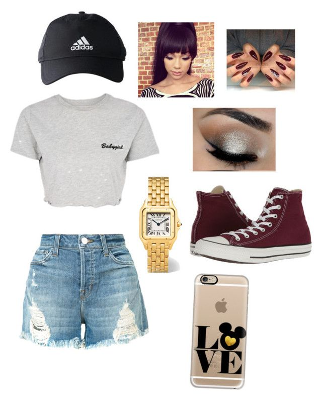 """EH"" by jay-99 on Polyvore featuring J Brand, Topshop, Cartier, adidas, Casetify and Converse"