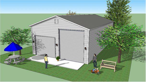 Steel Garage Shelters : Bradley mighty steel rv garage shelter