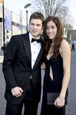 Naomi Van As with her boyfriend, speed skater Sven Kramer