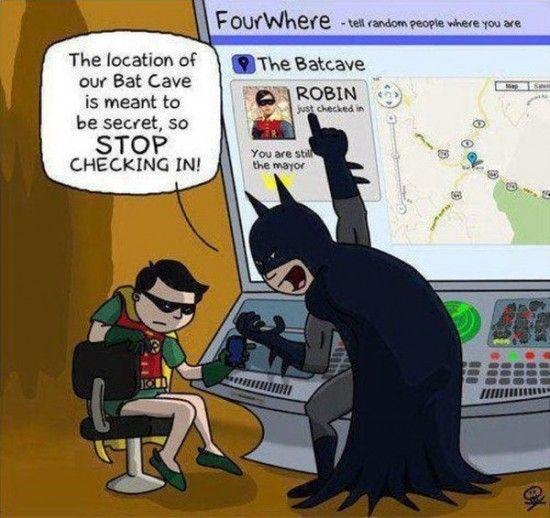 The problem with social media.: Social Media, Funny Stuff, Robins, Batman, Humor, Socialmedia, Superhero