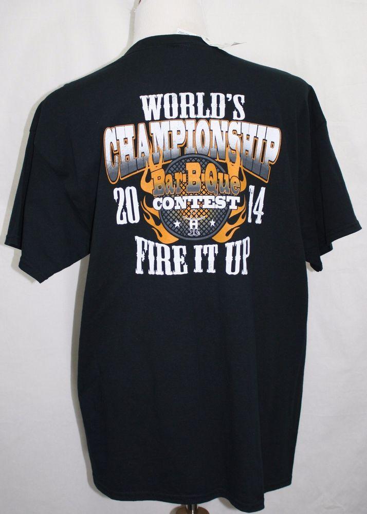 NWT 2014 WORLD'S CHAMPIONSHIP BAR-B-CUE CONTEST Houston Rodeo T-Shirt Black XL #Gildan #GraphicTee