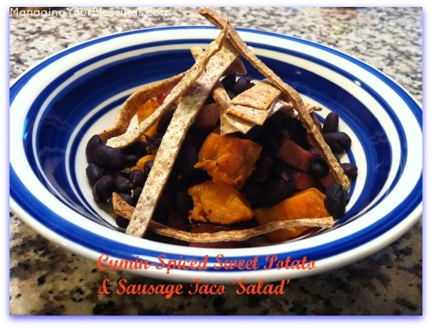 Cumin-Spiced Sweet Potato & Sausage Taco 'Salad' | Recipe