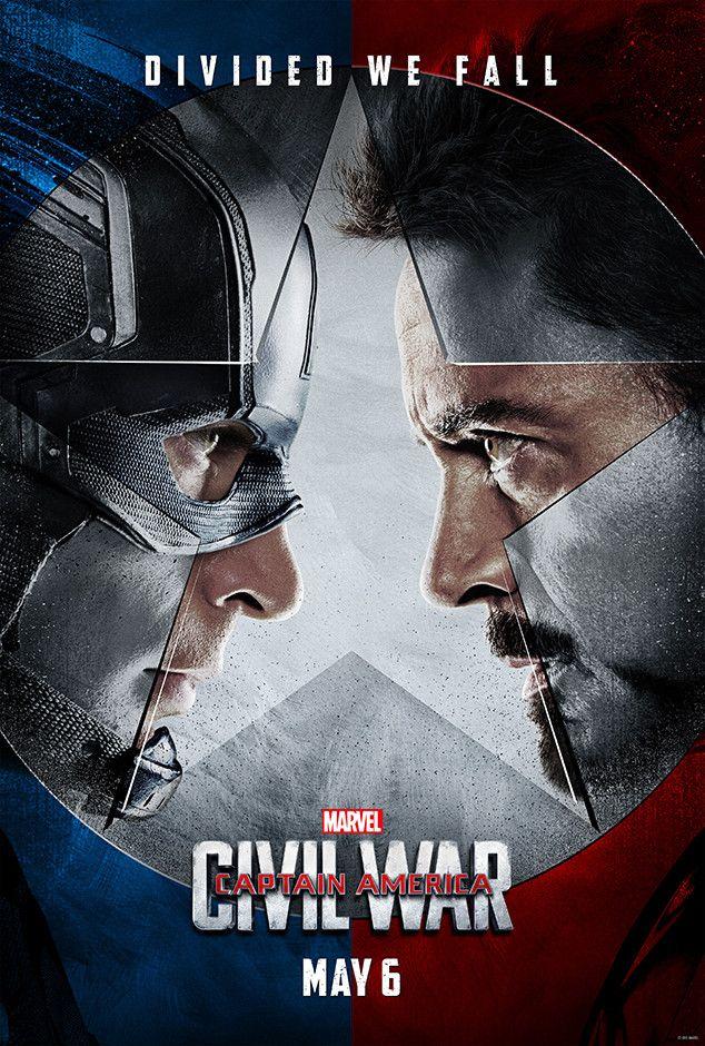 Chris Evans & Robert Downey Jr. from Captain America: Civil War Character Posters  As Steve Rogers/Captain America and Tony Stark/Iron Man