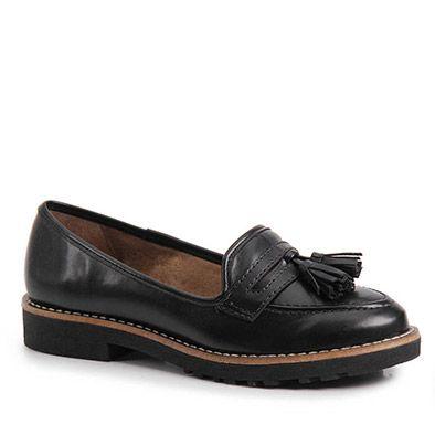 Sapato Mocassim Feminino Lara - Preto - Passarela.com