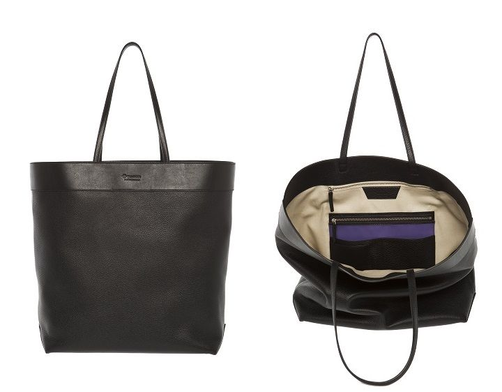 Tillander by Aki Choklat, BROOKE shopper, tote, leather, black, purple, Made in Italy